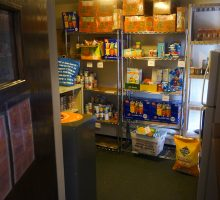 a food pantry filled with non-perishables. Click to learn more about the Hendricks Chapel food pantry
