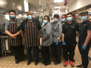 Group of Food Service employees standing in a group
